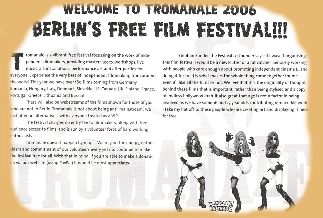 first page of the tromanale 2006 programm